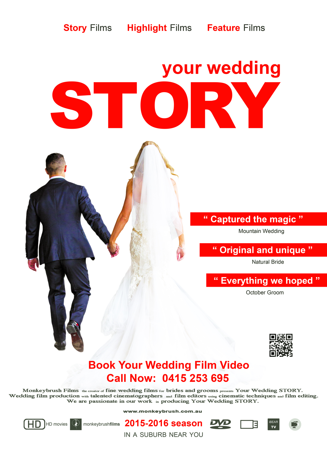 Wedding Film Poster - Your Wedding STORY • Wedding Videographers ...